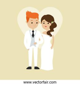Married design. Wedding icon. Colorful illustration , vector
