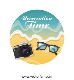 Summer design. Holidays icon. Colorful illustration , vector