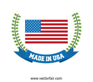 USA design. American icon. Flat illustration