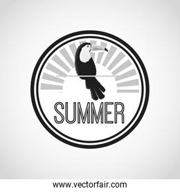 Tuncan on on circle  icon. Summer design. Vector graphic
