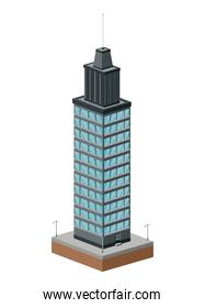 Building of City. Isometric design. Vector graphic
