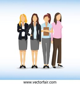 Woman avatar icon. Businesspeople design. Vector graphic