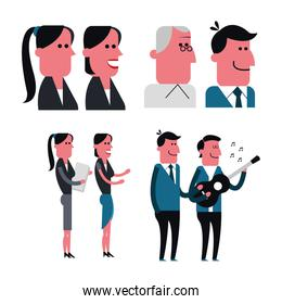 Man and Woman cartoon. People design. Vector graphic