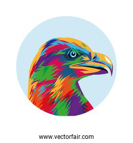 Eagle icon. Animal and art design. Vector graphic