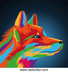 Wolf icon. Animal and art design. Vector graphic