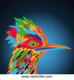 Bird icon. Animal and art design. Vector graphic