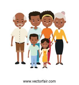 Grandparents, parents and kids icon. Family design. Vector graph