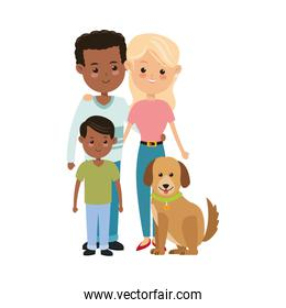 Parents and son icon. Family design. Vector graphic