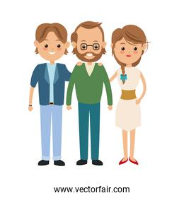 Grandfather and parents icon. Family design. Vector graphic