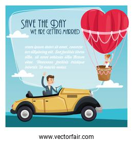 save the date wedding icon. Vector graphic