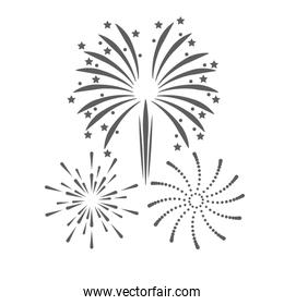 firework celebration explosion icon. Vector graphic