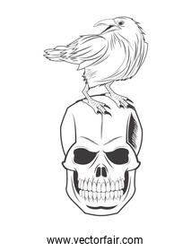 skull eagle tattoo face design