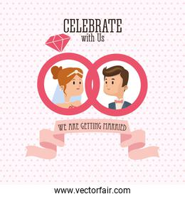 Wedding and marriage couple design