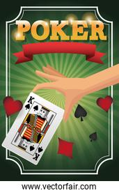 Hand and Cards of Poker design