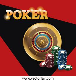 Chips and roulette for poker and casino game design