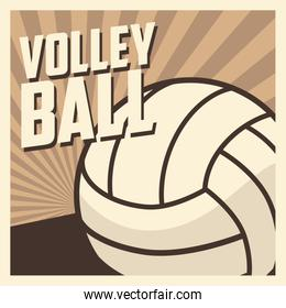 Volleyball sport and hobby design