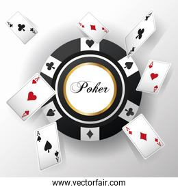 Cards of Poker and chip design