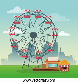 Ferris wheel of carnival design