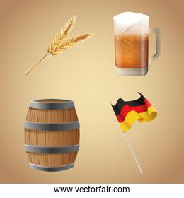 Oktoberfest celebration of Germany design