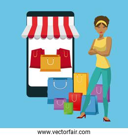 Smartphone and shopping design