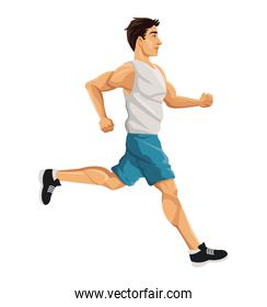 Man running of Healthy lifestyle design