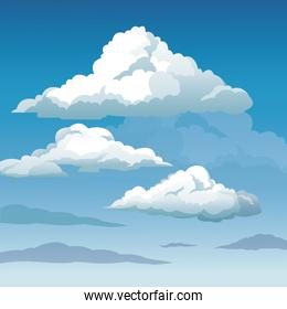 blue sky clouds seamless background