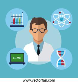 character medical scientist experiment laboratory