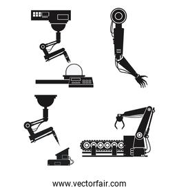 silhouette collection robotic industrial equipment