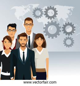 business people teamwork cooperation success