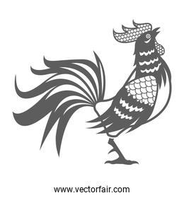 year rooster chinese calendar pictogram