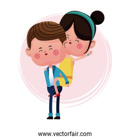 boy carrying girl funny graphic