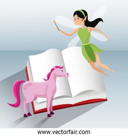 fairy flying and unicorn tale book