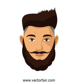 portrait man bearded hair style mustache
