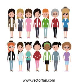 group women ethnicity variety group