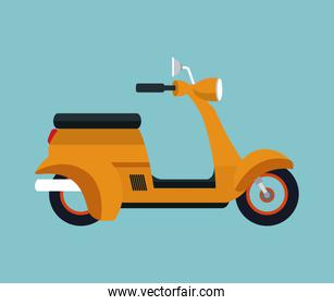 yellow motorcycle scooter