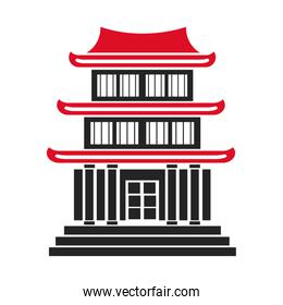 japan tradictional pagoda building structure