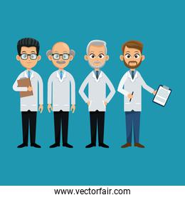 group doctor professional staff