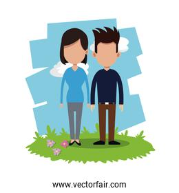 couple relationship field background