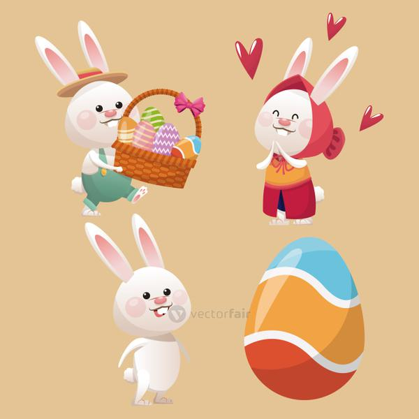 collection bunny easter egg