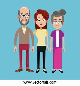 grandparents and mother family image