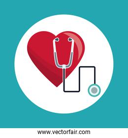 heart stethoscope medical concept