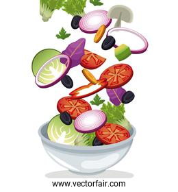bowl salad vegetables fresh vitamins