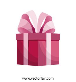 cute gift box pink with bow