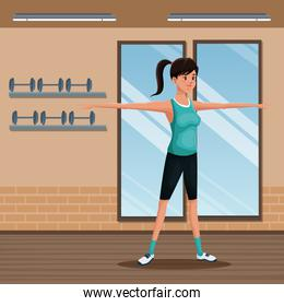 woman sports training exercise gym workout