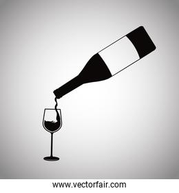 wine bottle pouring glass cup image