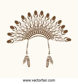 native american crown feathers