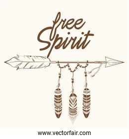 free spirit arrow with fearthers