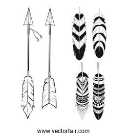 free spirit feathers and arrows ornament