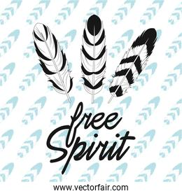 free spirit feathers american indian background