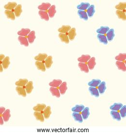 spring flowers ornament seamless floral pattern. flowers texture.